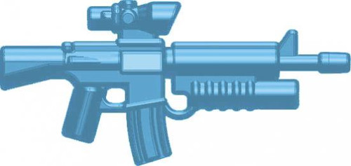 BrickArms Weapons M16-AGL ACOG Scope & Grenade Launcher 2.5-Inch [Light Blue]
