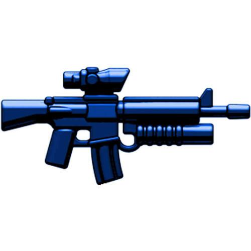 BrickArms Weapons M16-AGL ACOG Scope & Grenade Launcher 2.5-Inch [Dark Blue]