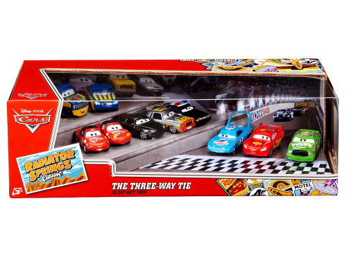 Disney Cars Radiator Springs Classic The Three Way Tie 10-Pack Exclusive Diecast Car Set