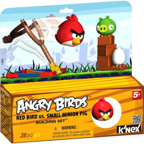 K'NEX Angry Birds Red Bird Vs. Small Minion Pig Set #72600