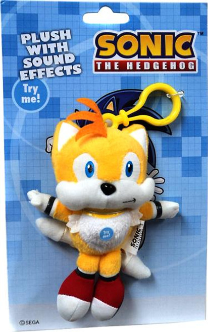 Sonic The Hedgehog Tails 5-Inch Plush Clip On [With Sound]
