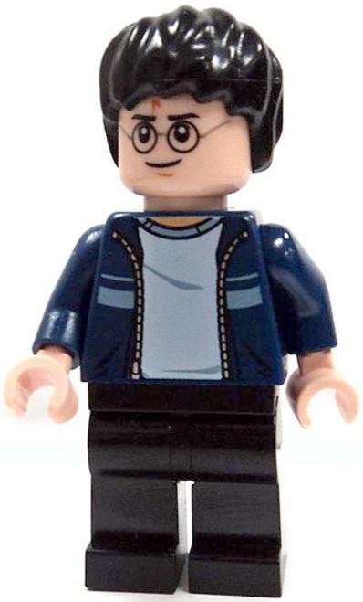 LEGO Loose Harry Potter Minifigure [Dark Blue Open Jacket with Stripe & Black Pants Loose]
