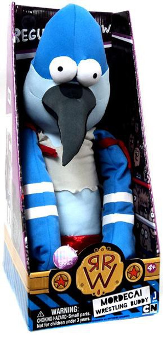 Cartoon Network Regular Show Wrestling Buddies Mordecai 20-Inch Plush