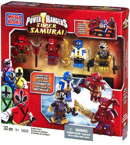 Mega Bloks Power Rangers Super Samurai Battle Pack I Exclusive Set #5858