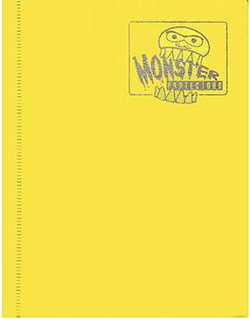 Card Supplies Yellow 4-Pocket Binder