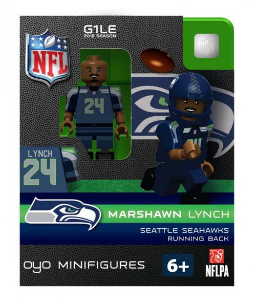 Seattle Seahawks NFL Generation 1 2012 Season Marshawn Lynch Minifigure