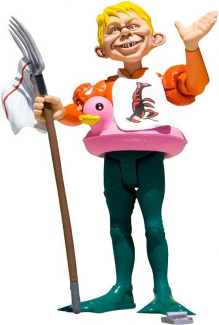 DC MAD Just Us League of Stupid Heroes Alfred E. Neuman as Aquaman Action Figure