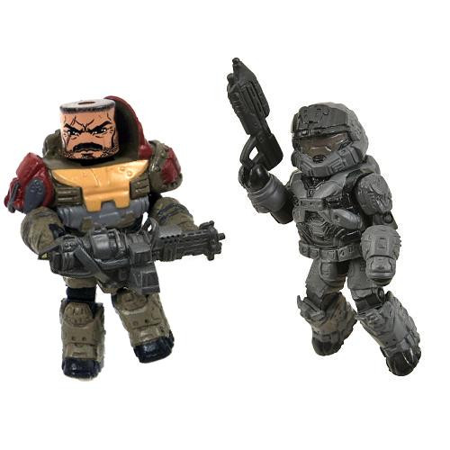 Halo Minimates Series 1 Jorge & Noble 6 Minifigure 2-Pack [Loose]
