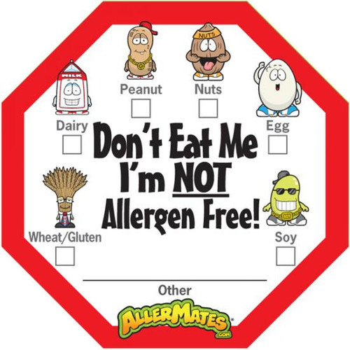 AllerMates Allergen Alert Labels [24 Pack]