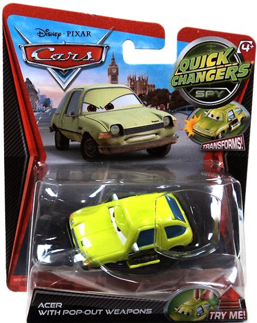 Disney Cars Quick Changers Spy Acer with Pop-Out Weapons Diecast Car