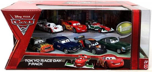 Disney Cars Multi-Packs Tokyo Race Day 7-Pack Exclusive Diecast Car Set