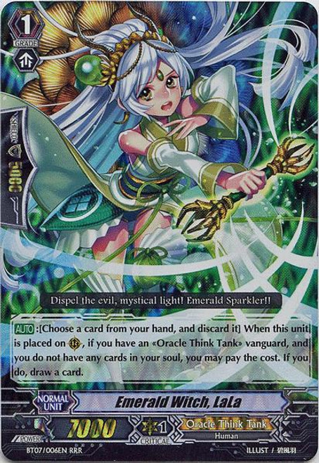 Cardfight Vanguard Rampage of the Beast King Triple Rare RRR Emerald Witch, LaLa BT07-006