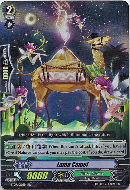 Cardfight Vanguard Rampage of the Beast King Double Rare RR Lamp Camel BT07-010