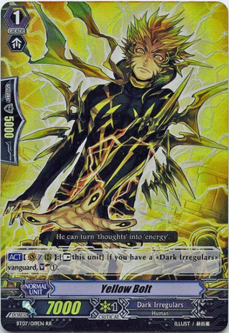 Cardfight Vanguard Rampage of the Beast King Double Rare RR Yellow Bolt BT07-019