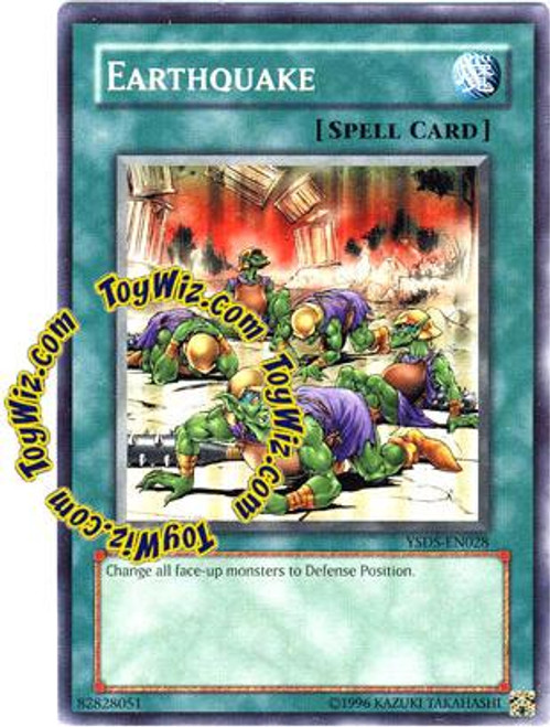 YuGiOh GX Syrus Truesdale Starter Deck Common Earthquake YSDS-EN028