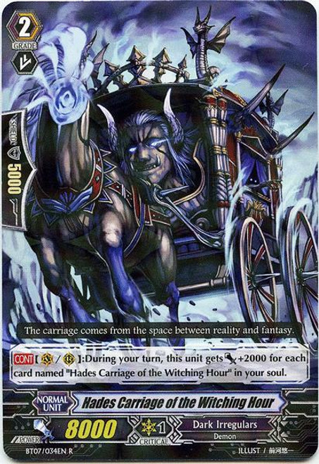 Cardfight Vanguard Rampage of the Beast King Rare Hades Carriage of the Witching Hour BT07-034