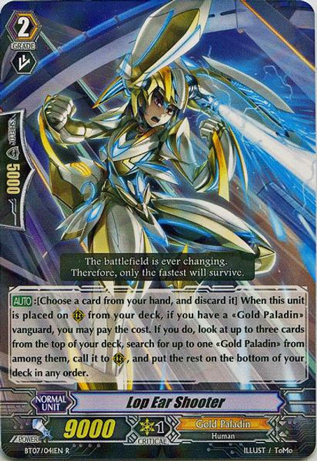 Cardfight Vanguard Rampage of the Beast King Rare Lop Ear Shooter BT07-041
