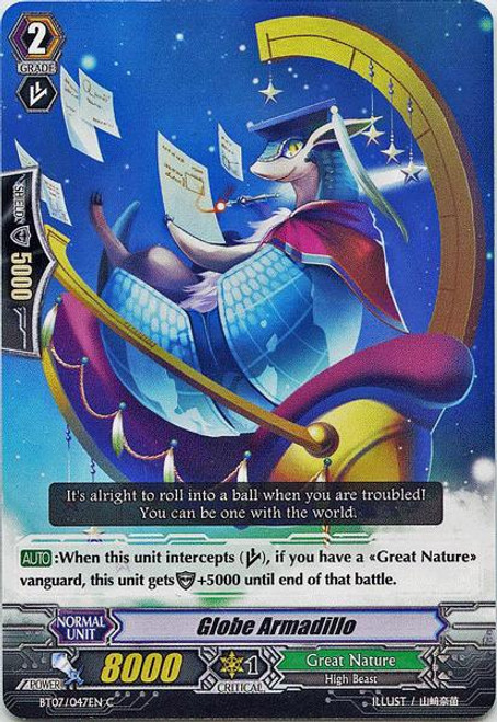 Cardfight Vanguard Rampage of the Beast King Common Globe Armadillo BT07-047
