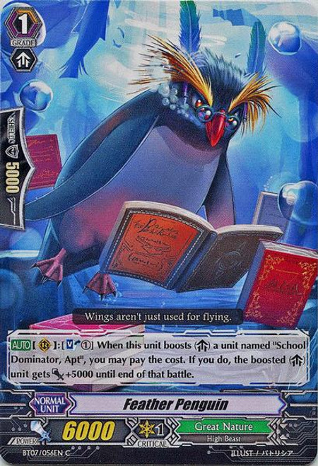 Cardfight Vanguard Rampage of the Beast King Common Feather Penguin BT07-056