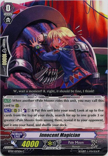 Cardfight Vanguard Rampage of the Beast King Common Innocent Magician BT07-075