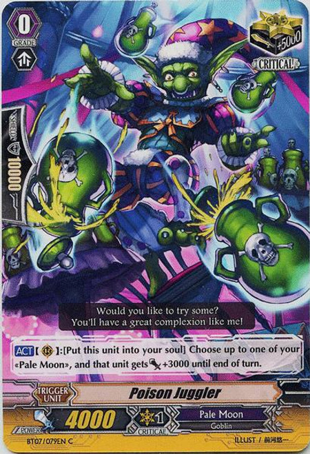 Cardfight Vanguard Rampage of the Beast King Common Poison Juggler BT07-079