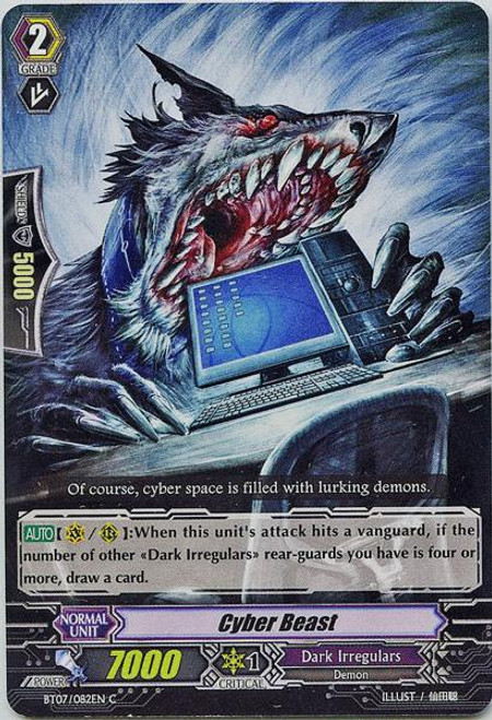 Cardfight Vanguard Rampage of the Beast King Common Cyber Beast BT07-082