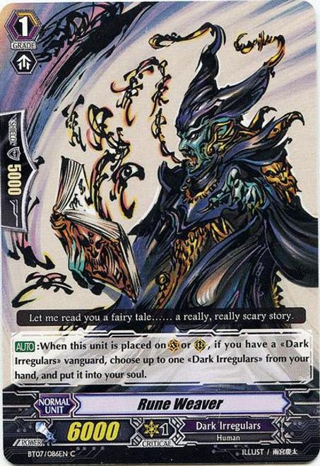 Cardfight Vanguard Rampage of the Beast King Common Rune Weaver BT07-086