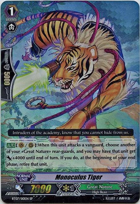 Cardfight Vanguard Rampage of the Beast King SP Rare Monoculus Tiger BT07-S10EN