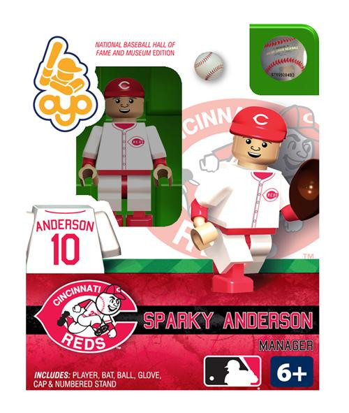 Cincinnati Reds MLB Hall of Fame Sparky Anderson Minifigure