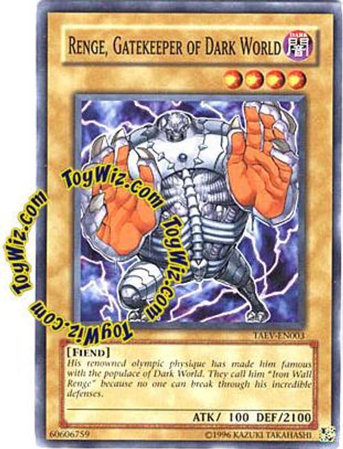YuGiOh GX Tactical Evolution Common Range, Gatekeeper of Dark World TAEV-EN003