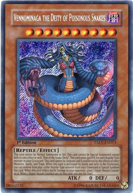 YuGiOh GX Tactical Evolution Secret Rare Vennominaga the Deity of Poisonous Snakes TAEV-EN013