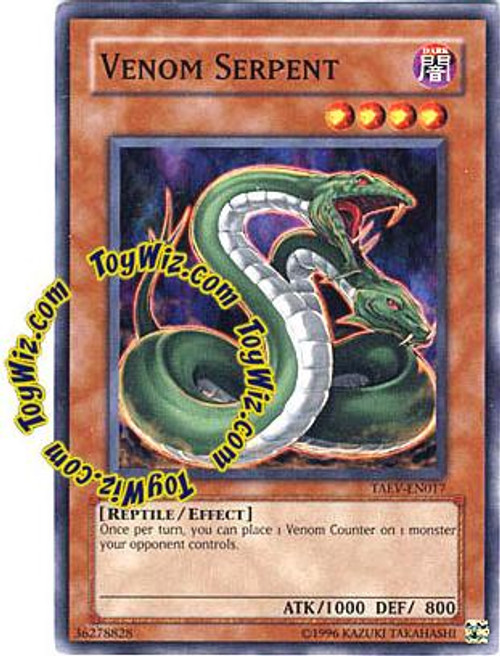 YuGiOh GX Tactical Evolution Common Venom Serpent TAEV-EN017