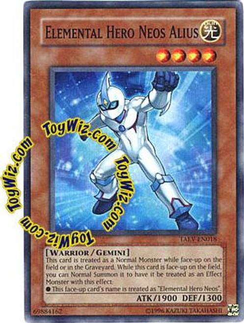 YuGiOh GX Tactical Evolution Super Rare Elemental Hero Neos Alius TAEV-EN018