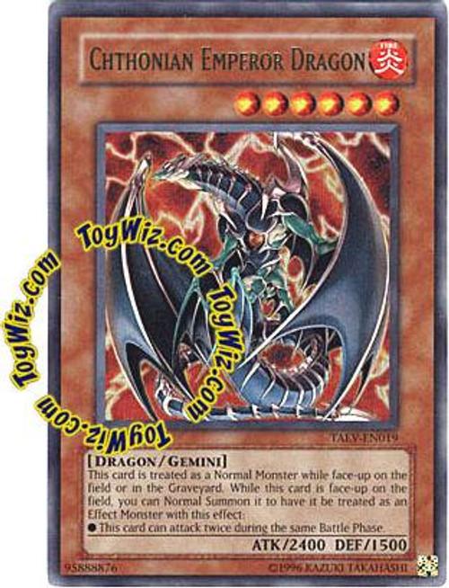 YuGiOh GX Tactical Evolution Ultra Rare Chthonian Emperor Dragon TAEV-EN019