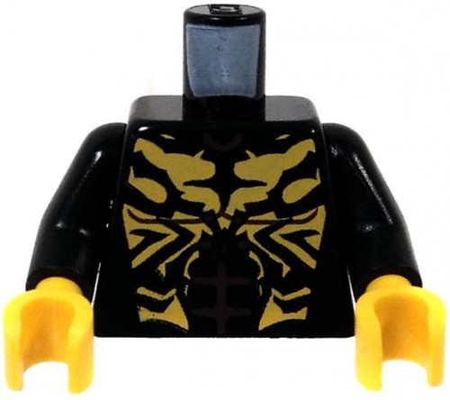 LEGO Star Wars The Clone Wars Minifigure Parts Black Body with Yellow Markings & Hands Loose Torso [Loose]