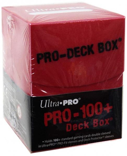 Ultra Pro Card Supplies Pro-Deck Red Deck Box [100 ct]