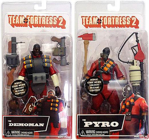 NECA Team Fortress 2 RED Series 1 Set of 2 Action Figures