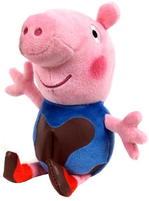 Beanie Babies Peppa Pig Muddy Baby George Exclusive Beanie Plush