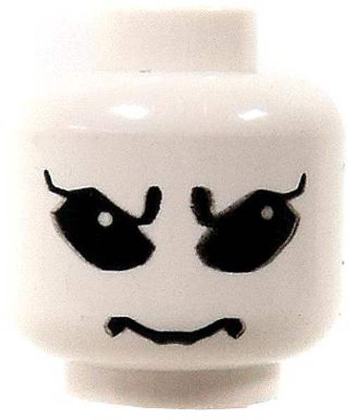 LEGO Minifigure Parts White Alien with Big Black Eyes Minifigure Head [Loose]