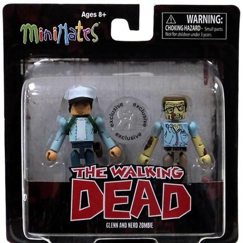 The Walking Dead Minimates Exclusives Glenn & Nerd Zombie Exclusive Minifigure 2-Pack