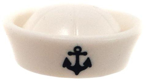 LEGO Minifigure Parts White Naval Sailor's Hat [With Logo Loose]