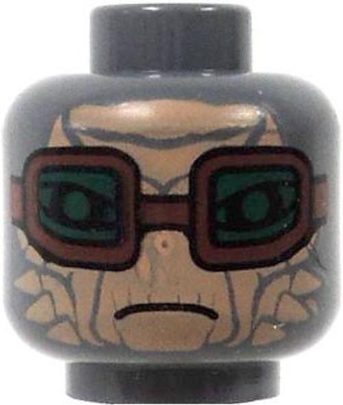 Star Wars LEGO Minifigure Parts Gray Alien Tan Face Green Goggles Minifigure Head [Loose]
