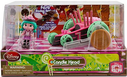 Disney Wreck-It Ralph Sugar Rush Racer Candle Head Exclusive Figure Set