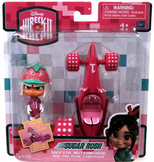 Disney Wreck-It Ralph Sugar Rush Racer Taffyta Muttonfudge & Pink Lightning Figure Set