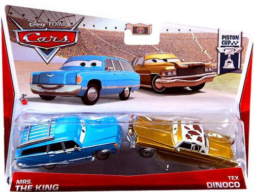 Disney Cars Series 3 Mrs. The King & Tex Dinoco Diecast Car 2-Pack