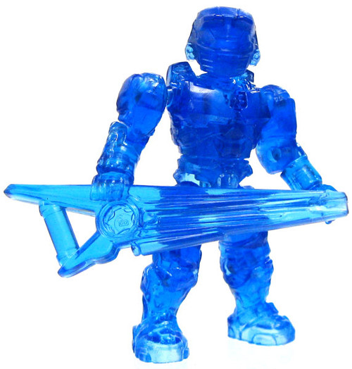 Mega Bloks Halo Series 5 Master Chief 2-Inch Minifigure [Trans Blue Loose]