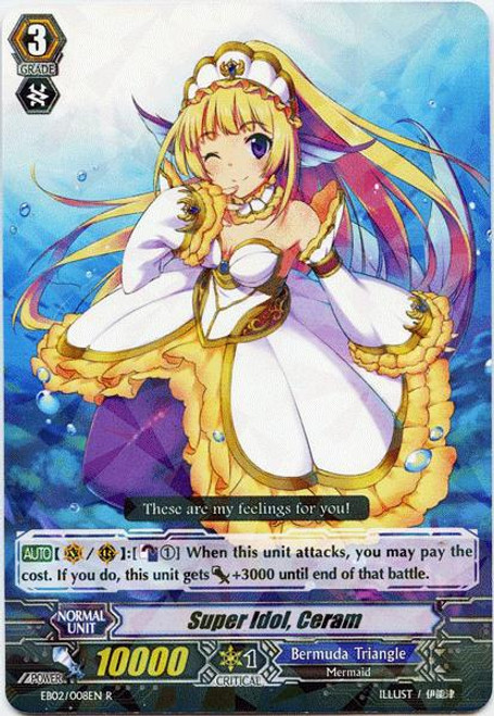 Cardfight Vanguard Banquet of Divas Rare Super Idol, Ceram EB02-008