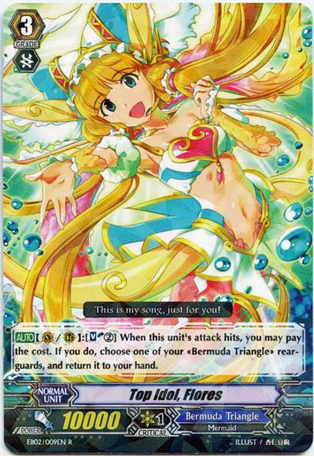 Cardfight Vanguard Banquet of Divas Rare Top Idol, Flores EB02-009