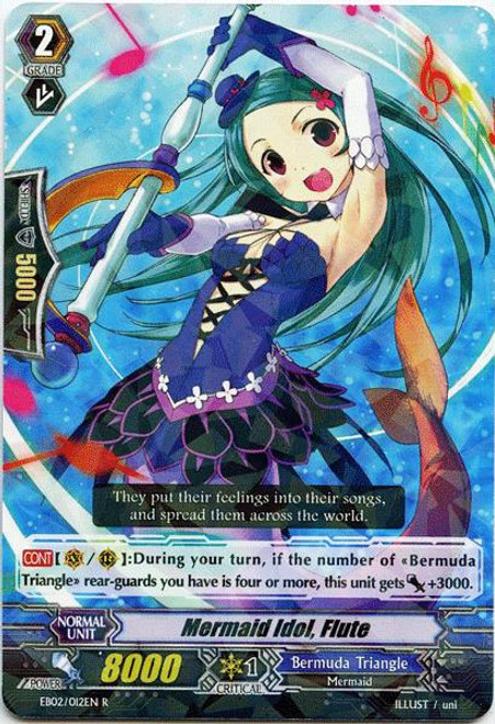 Cardfight Vanguard Banquet of Divas Rare Mermaid Idol, Flute EB02-012