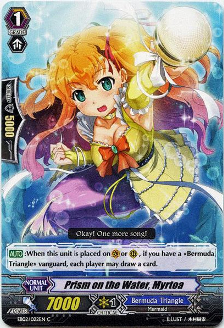 Cardfight Vanguard Banquet of Divas Common Prism on the Water, Myrtoa EB02-022